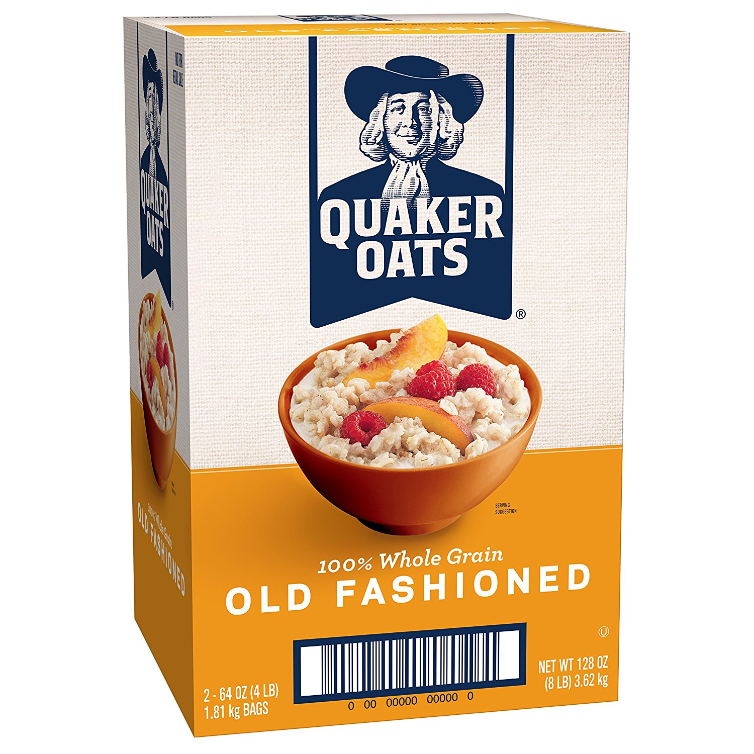 Quaker Old Fashioned Oats, 64 oz Bags, 2 Count