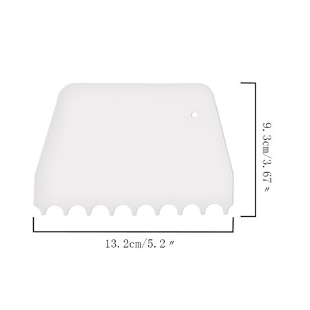 Plastic Cake Edges Scraper Cream Icing Smoother DIY Cakes Decorating Spatula Tool Set Rectangle Triangle - image 1 of 6
