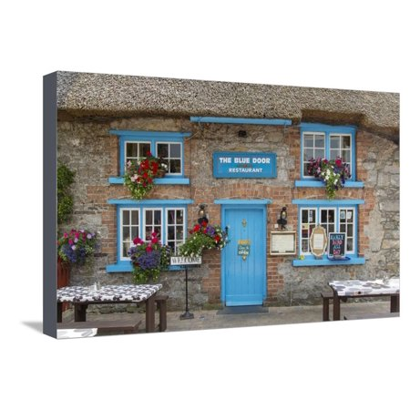 Cottage Cafe in Adare, County Limerick, Republic of Ireland Stretched Canvas Print Wall Art By Brian Jannsen