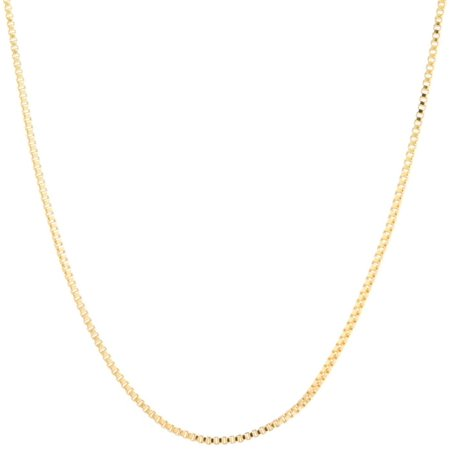 Lily Maris 24'' 24K Gold Plated Box Chain Necklace Gold tone