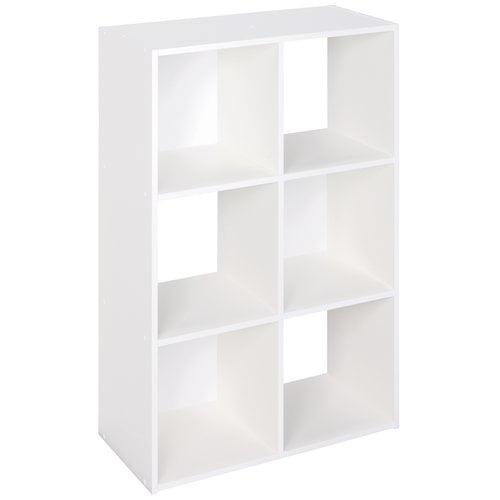 ClosetMaid 6-Cube Laminate Organizer, White