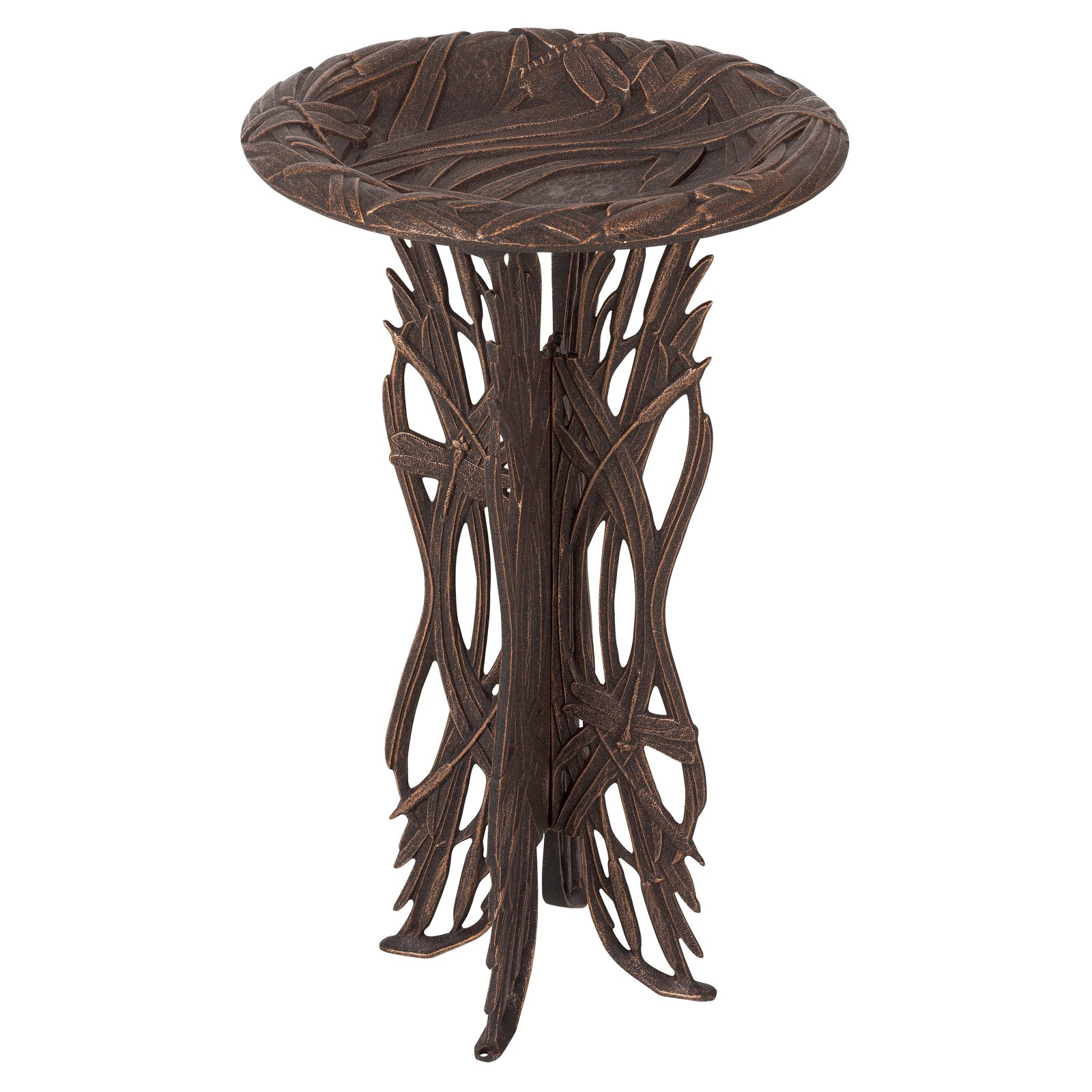 Whitehall Dragonfly Birdbath with Pedestal