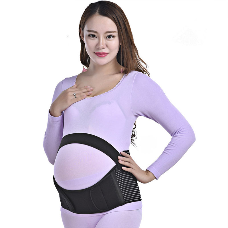 Maternity Belt During Pregnancy Breathable Soft Comfortable High Elasticity Back Waist Abdomen Support Belly BandBlack comfort type M