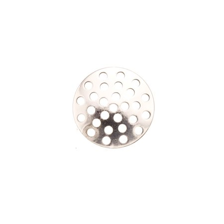 Perforated Disk (14mm Silver Plated perforated Disc pack of 40 (2-Pack Value Bundle), SAVE $1 1841Fd)