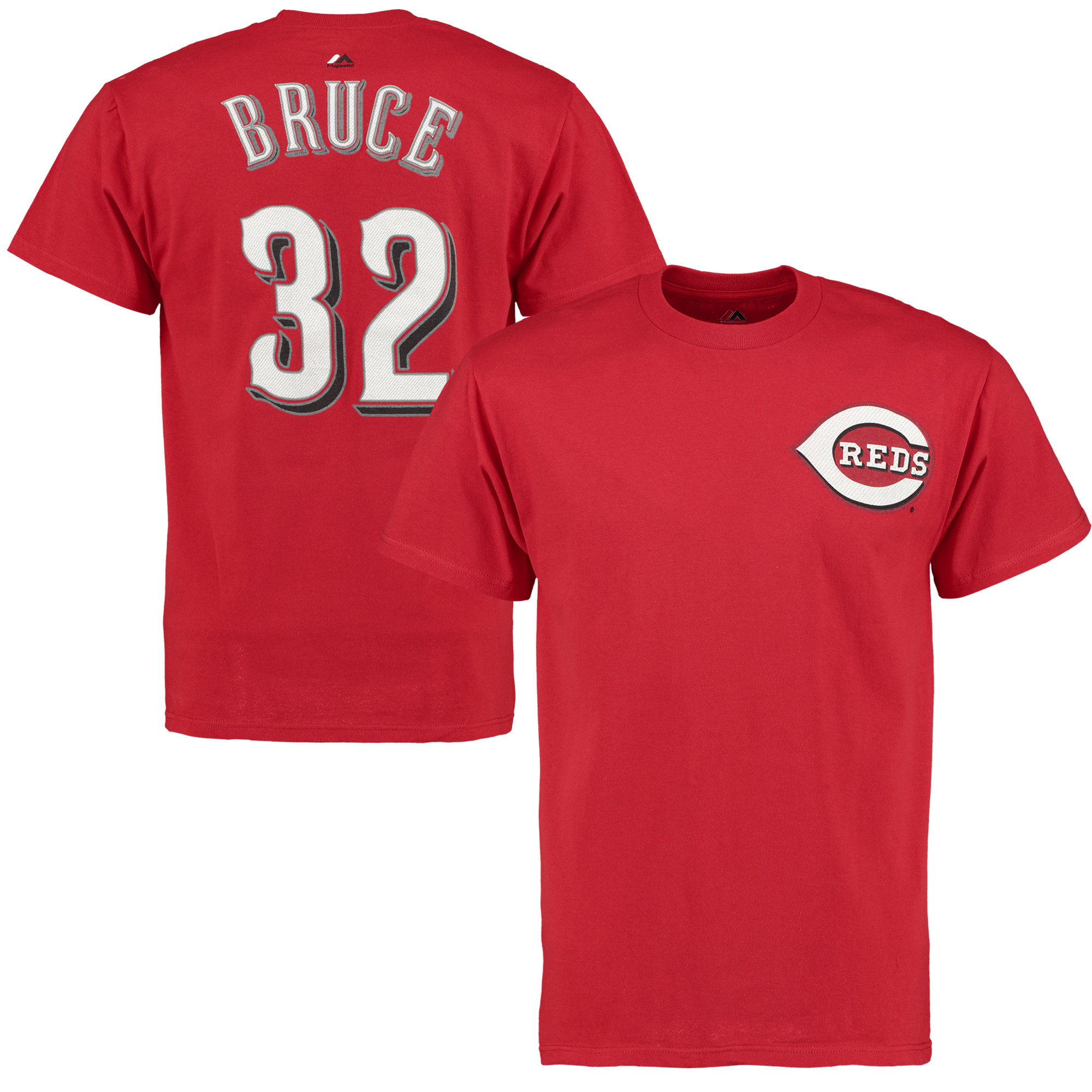 Jay Bruce Cincinnati Reds Majestic Official Name & Number T-Shirt - Scarlet