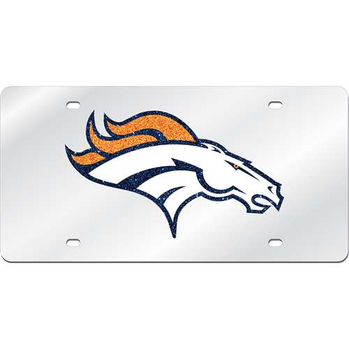 Denver Broncos Logo Mirrored License Plate