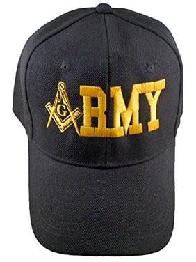 64199a8dacc80 Product Image Buy Caps and Hats Masonic Baseball Cap ARMY Mason Hat Mens One  Size (Black)