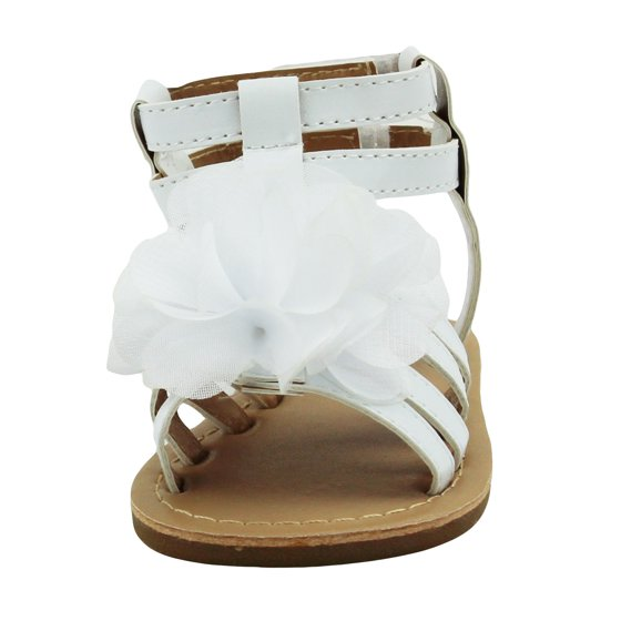 967542b7cc1e0 Stepping Stones - Stepping Stones Baby Girls White Gladiator Sandals ...