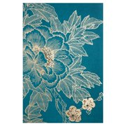 Lhasa Lotus - Teal Canvas Wall Art - 24W x 36H in.