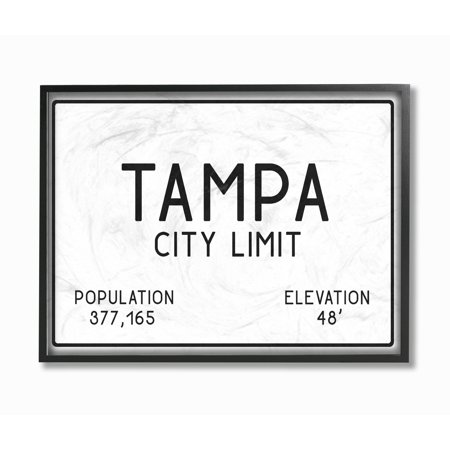 The Stupell Home Decor Collection Tampa City Limit Oversized Framed Giclee Texturized Art - Party City Tampa Hours