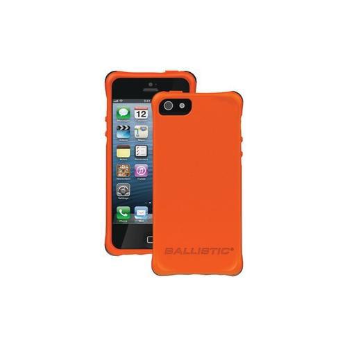 Ballistic BALLISTIC LS0955-M435 iPhone 5 LS Smooth Case (Orange TPU, 4 White,...