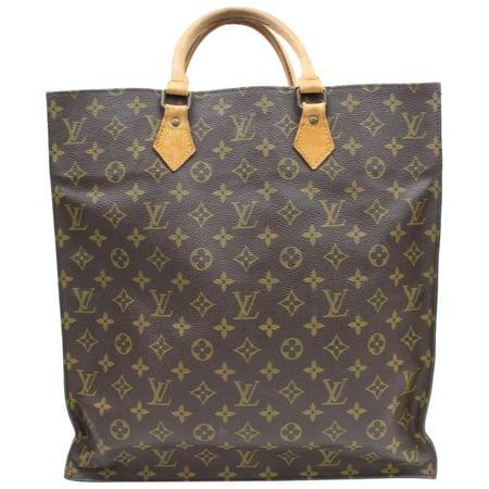 8c82ae00 Louis Vuitton - PRE-OWNED Sac Plat Monogram Shopper 869480 Brown ...