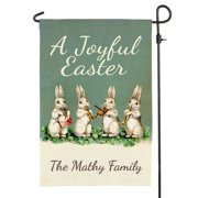 """A Joyful Easter Personalized Garden Flag with Custom Name Printing, Outdoor/Indoor, 12"""" x 17.5"""""""