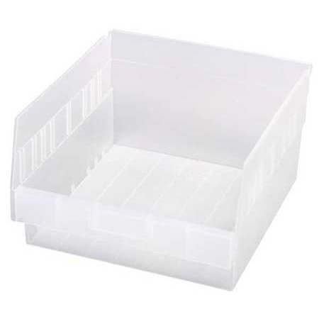Quantum Storage Systems 50 lb Capacity, Shelf Bin, Clear