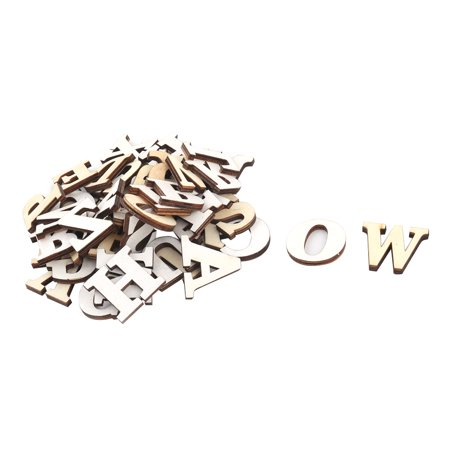 Festival Wood DIY English Letter Alphabet Decoration Beige Coffee Color 52 in 1
