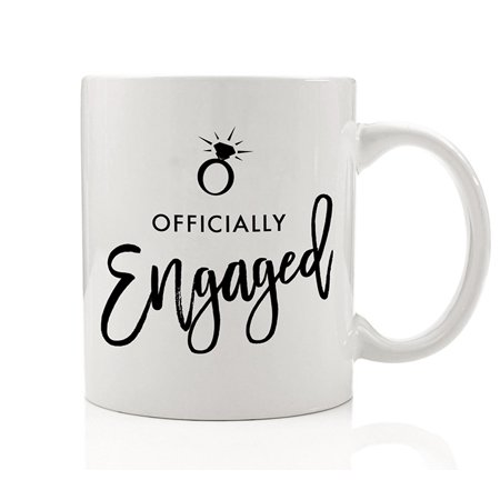 Officially Engaged Mug, 11 oz Coffee Mug, Engagement Ring Mug, Bride To Be Gift, Mug Wife, Wifey, Future Mrs Cup, Soon to Be Mrs Mug DM0189