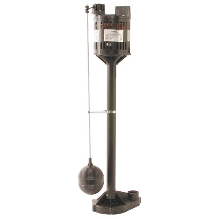 Flotec FPPSS3000 Pedestal Sump Pump With Vertical Float Switch, 3000 gph, 1/3 hp, 115 VAC, 3.5 A