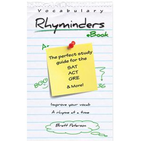Vocabulary Rhyminders: SAT, ACT and GRE Word Rhyme Study Guide - eBook