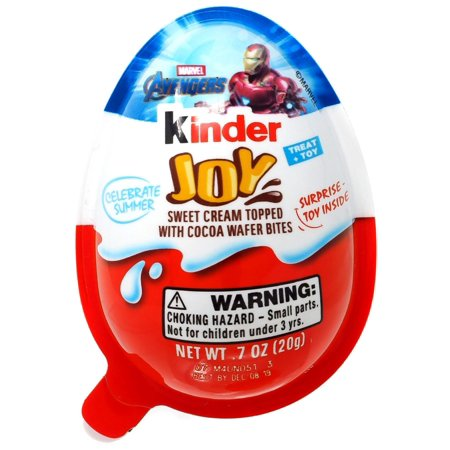 Kinder Joy Avengers Chocolate Surprise Egg (Kinder Surprise Eggs With Toy)