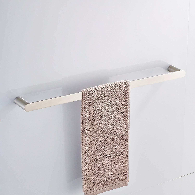 Magnificent Bathroom Single Towel Bar Rack Modern Towel Bar Hanger Shower Hand Towel Holder Heavy Duty Kitchen Shelf Hanging Rod Storage Stainless Steel Brushed Interior Design Ideas Skatsoteloinfo