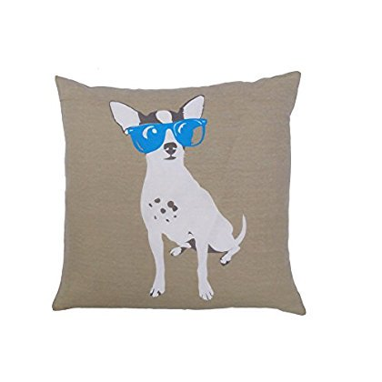 Yeah! 20 in. W x 84 in. L Dog With Sunglasses Decorative Throw Pillow in Pink ()