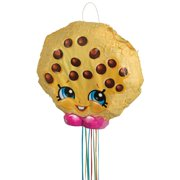 Kookie Cookie Shopkins Pinata, Pull String, 17 x 17in