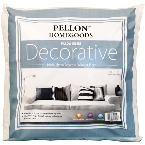 "Pellon Homegoods Decorative Pillow Insert, 16"" x 16"" Single"