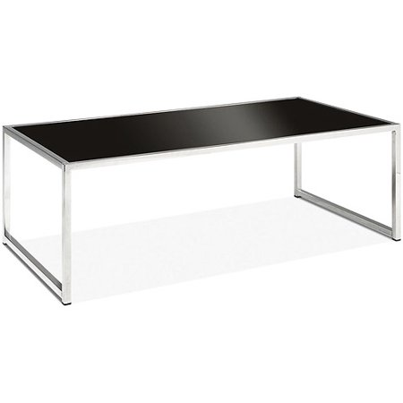 Avenue six yield coffee table chrome and black glass Black and chrome coffee table