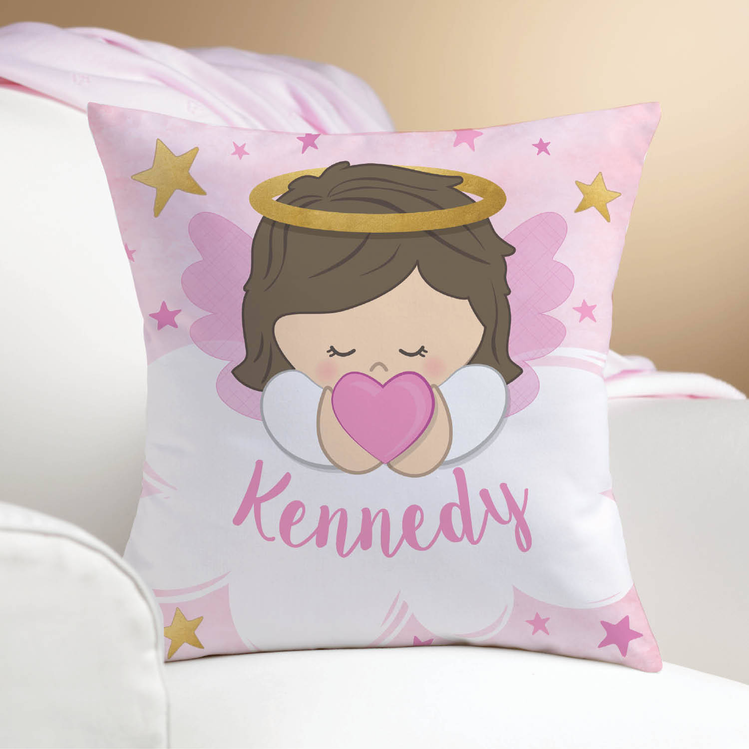 Guardian Angel Personalized Throw Pillow