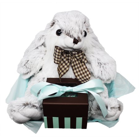 Nothing says Easter more than an Adorable, Big Foot, Floppy Ears, Stuffed Easter Bunny Cuddling a Keepsake Box of Name Brand Chocolates and Kisses. Easter Bunny Keepsake Box