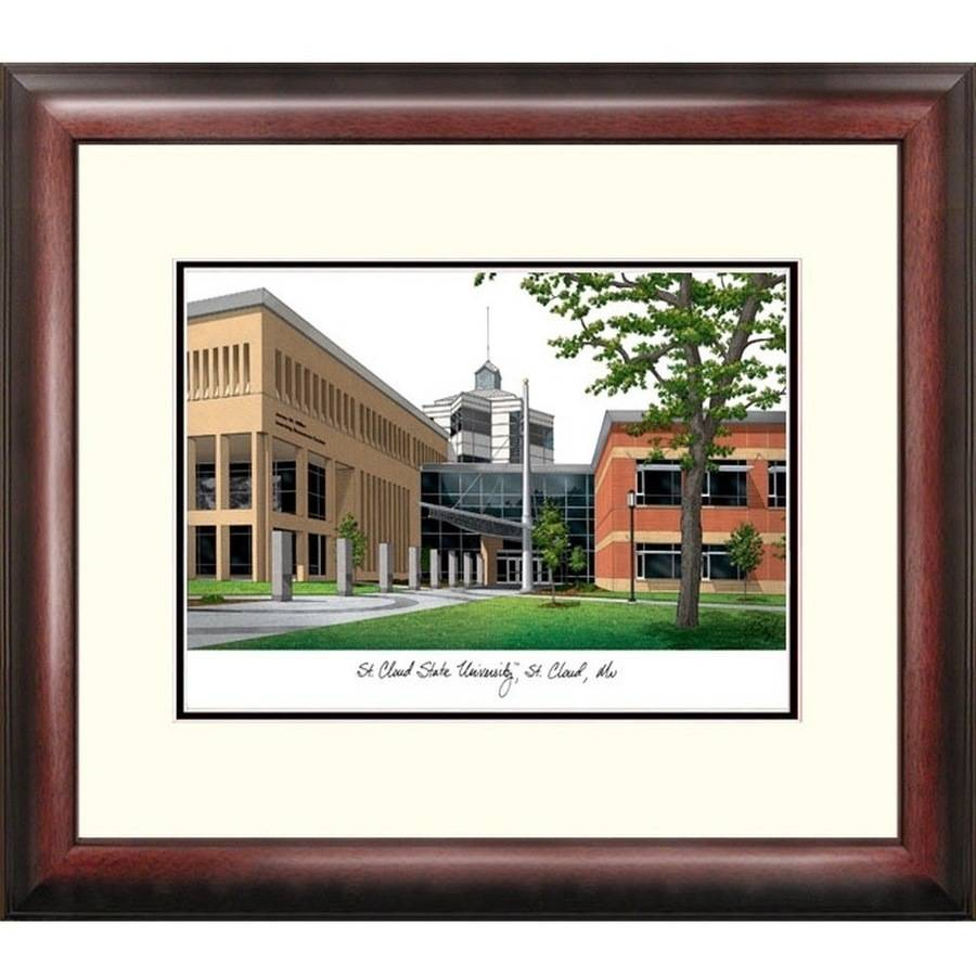 St. Cloud State Alumnus Framed Lithograph
