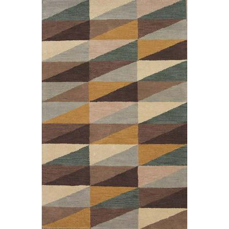 RugSource Geometric Modern Zig/zag Hand-Tufted Oriental 5x8 Wool Area Rug