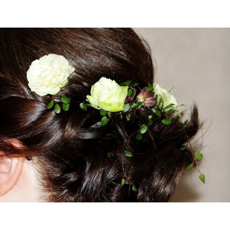LAMINATED POSTER Flowers Wedding Pinned Up Woman Bride Hairstyle Poster Print 24 x 36 - 1950 Women's Hairstyles