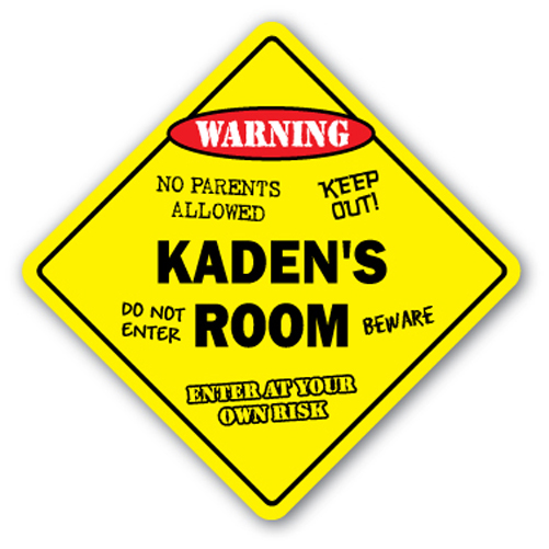Alondra's Room Sign Crossing Xing kids bedroom door children's name boy girl by SignMission