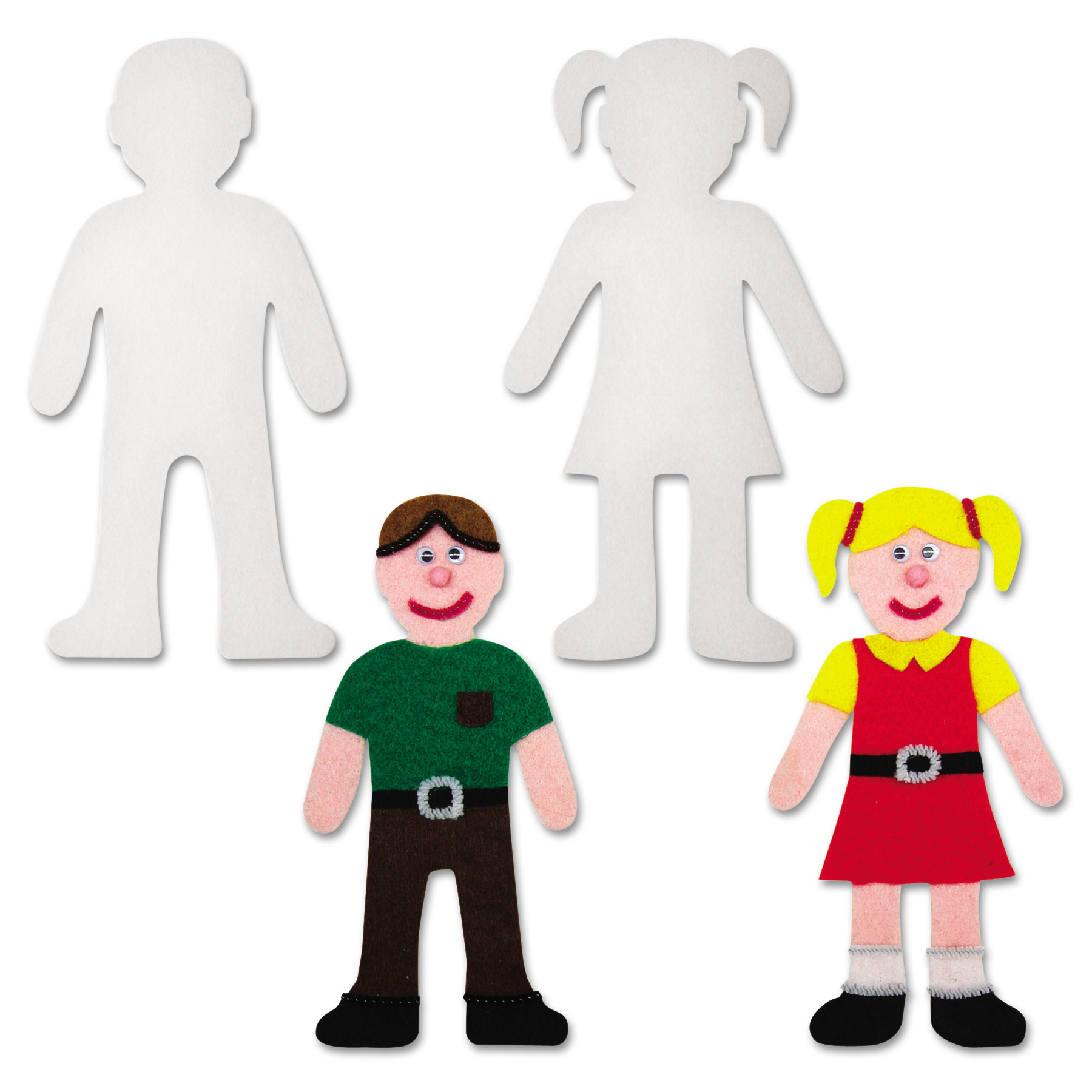 Creativity Street Peel & Stick People Decoration Boards, 8\ by THE CHENILLE KRAFT COMPANY