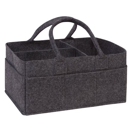 Charcoal Gray Felt Storage Caddy ()