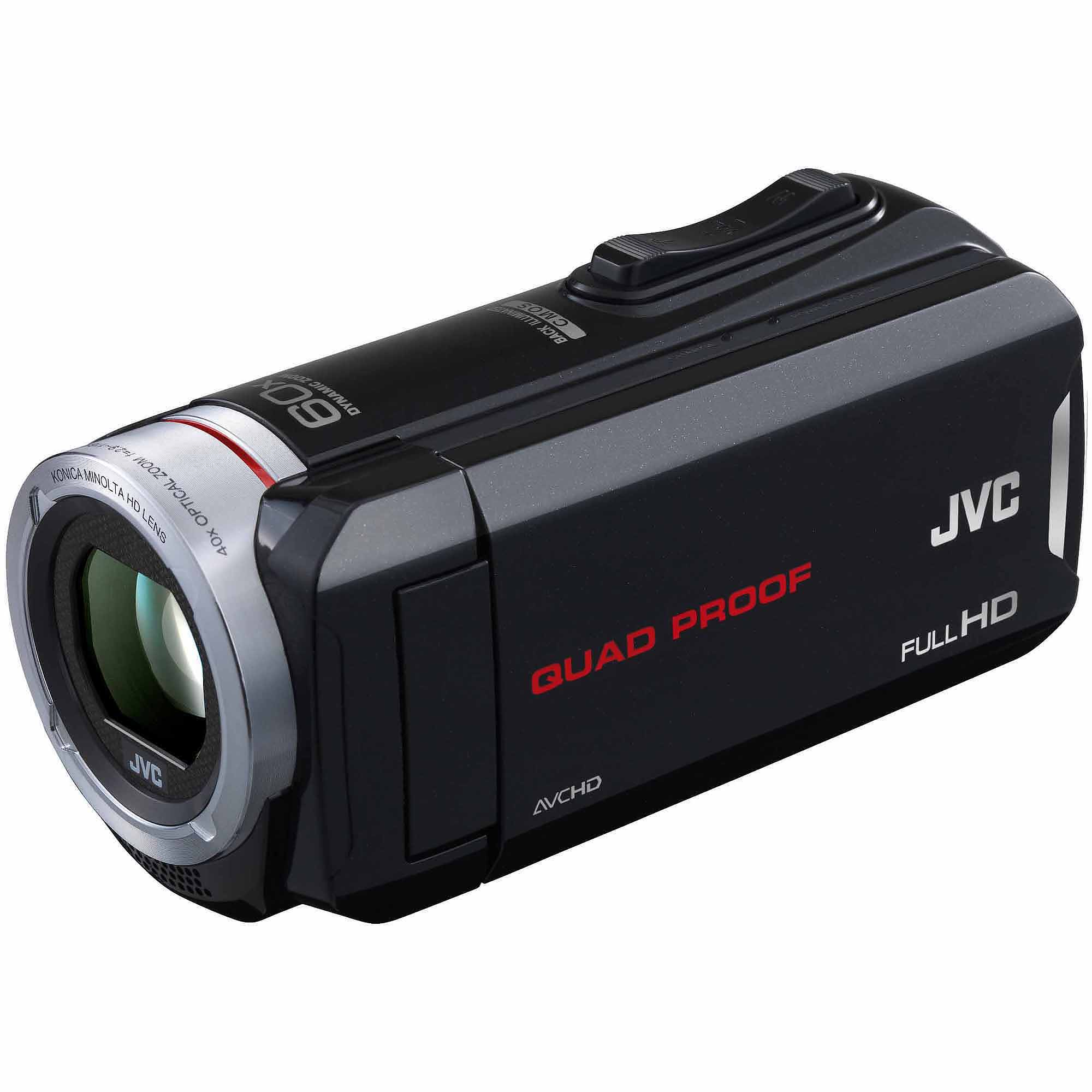 "JVC Black GZ-R30 All-Weather Full HD Camcorder with 40x Optical Zoom and 3.0"" LCD"