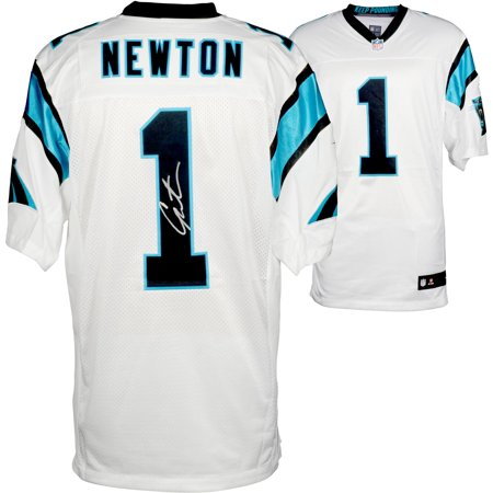 brand new bdf24 3e06c Cam Newton Carolina Panthers Autographed Elite White Jersey - Fanatics  Authentic Certified