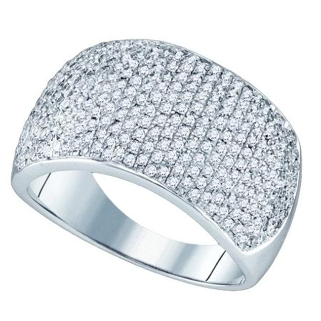 Gold and Diamonds RA3751-W 1.0CT-DIA MICRO-PAVE BAND- Size 7