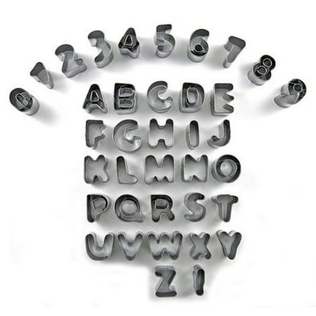 English Alphabet Number Shape Biscuit Cookie Fondant Cutter Mould Mold 37 in - Alphabet Cookie Cutters