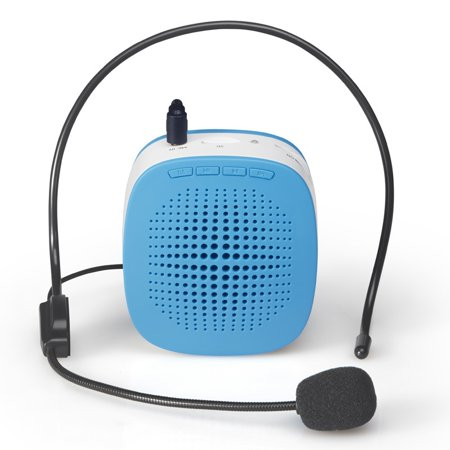 AMZER 5W Multi-function Portable Little Bee Voice Amplifier Speaker with Wired Microphone for Teacher / Tourist Guide, Support TF Card & Audio Input