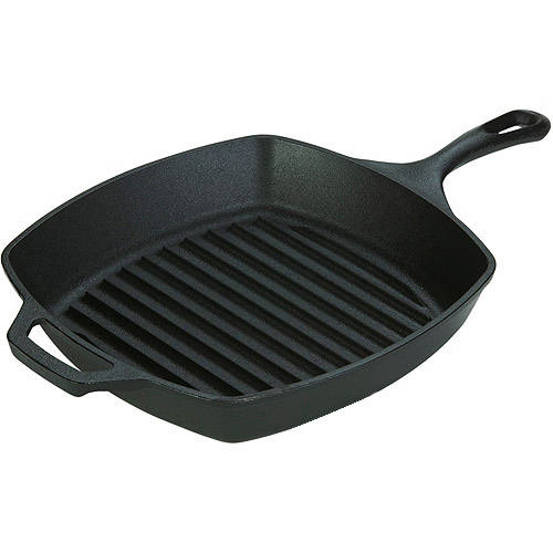 "Lodge Logic 10-1/2"" Cast Iron Square Grill Pan"