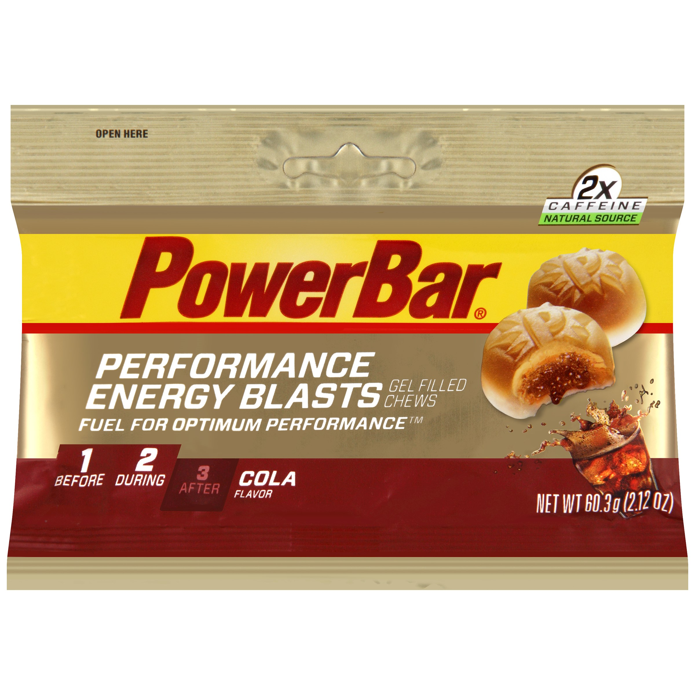 PowerBar Performance Energy Blasts, Cola 2.12 Oz (Innerpack of 12)