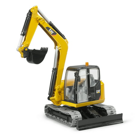 Bruder Toys Cat Mini Excavator with Chain Link Chassis and Working Arm | (Locomotive Chassis)