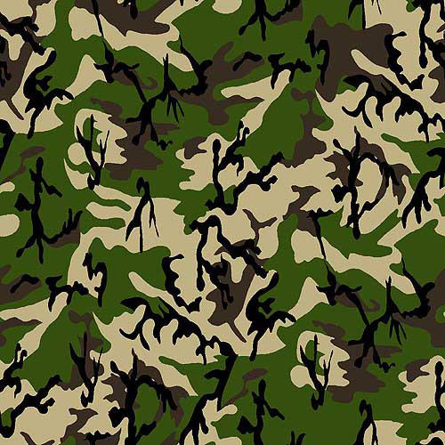 Springs Creative Creative Cuts Burlap Print Teen Camo, 47/48, 1.5-Yard Bolt, Multi
