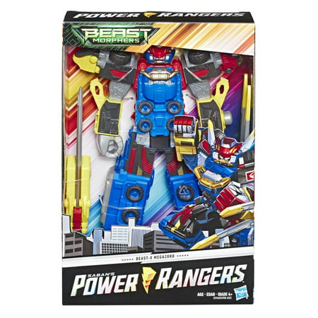 Power Rangers Cartoons Kids (Power Rangers Beast Morphers Beast-X Megazord 10-Inch Action)