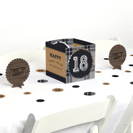 18th Milestone Birthday - Party Centerpiece & Table Decoration Kit - Halloween Themed 18th Birthday