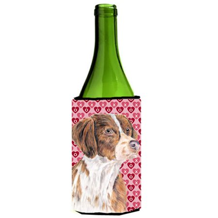 Brittany Hearts Love and Valentines Day Portrait Wine bottle sleeve Hugger - image 1 de 1
