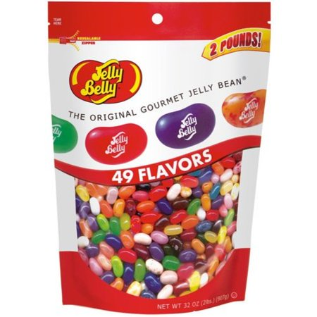Jelly Belly 49 Flavors Jelly Beans Bulk Candy, 2 Lb Free Jelly Beans