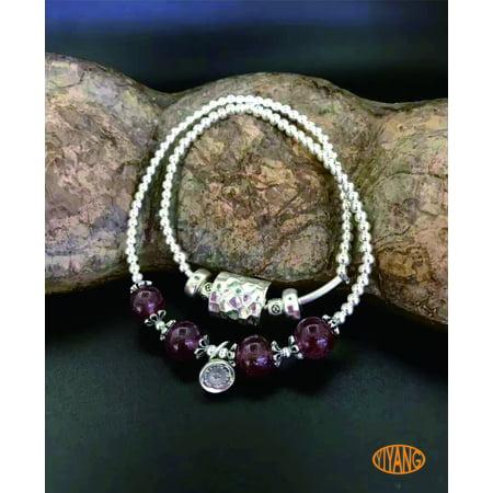 Handmade 925 sterling silver natural strawberry quartz boutique bracelet for wowan